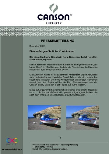 Pressemitteilung - Canson Infinity