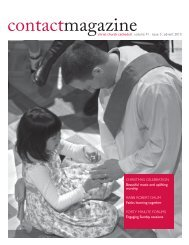Contact Magazine – November 2010 - Christ Church Cathedral ...