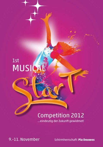 Programmheft. - 1st Musical Competition 2012