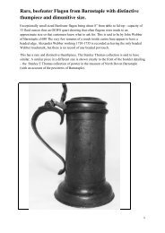 Rare, beefeater Flagon from Barnstaple with ... - PewterBank