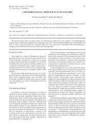 A MICROBIOLOGICAL APPROACH TO ACNE VULGARIS Yvona ...