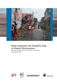 Needs Assessment and Feasability Study on Disaster Microinsurance: