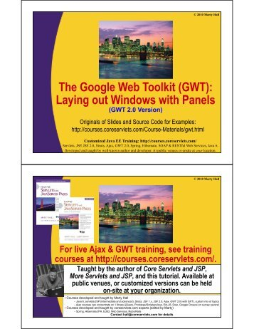 GWT - Custom Training Courses - Coreservlets.com