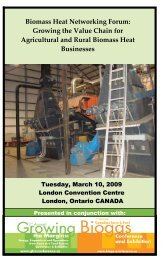 Biomass Heat Networking Forum: Growing the Value Chain for ...