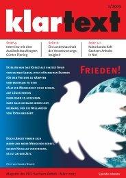 klartext 01/2003 - PDS Sachsen-Anhalt