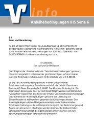 Anleihebedingungen IHS Serie 6 - VR Bank Rhein-Neckar eG