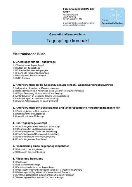 Betreuungskonzept Tagespflege Betreuungsstuben Ronhof 2