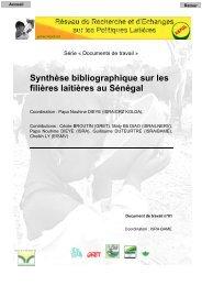 Synthèse bibliographique sur les filières laitières au Sénégal - REPOL