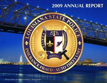 2009 ANNUAL REPORT - Louisiana State Police