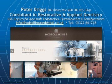Peter Briggs - Association of Consultants and Specialists in ...