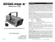 DYNO-FOG II - American DJ - All Pro Sound