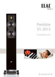 Preisliste 01-2013 - Elac