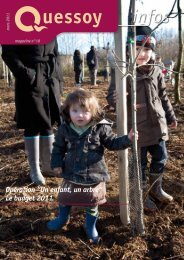 """Opération """"Un enfant, un arbre"""" Le budget 2011 - Quessoy"""