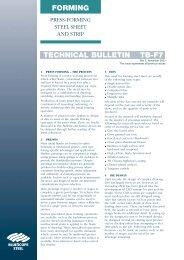 TECHNICAL BULLETIN TB-F7 FORMING - BlueScope Steel