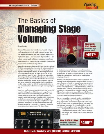 The Basics of Managing Stage Volume - medialink - Sweetwater.com