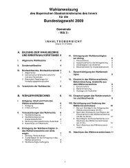 Wahlanweisung WA 3 zur - Wahlen - Bayern