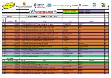 CALENDARIO COMPETICIONES 2012 - FTIB