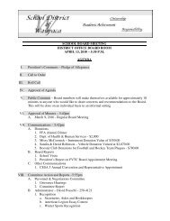 April 13, 2010 - Agenda - School District of Waupaca