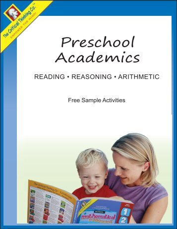 Free Preschool Academics eBook - The Critical Thinking Co.