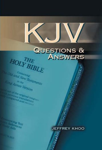 KJV Questions and Answers - Far Eastern Bible College