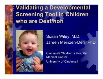 Validating a Developmental Screening Tool in Children who are ...