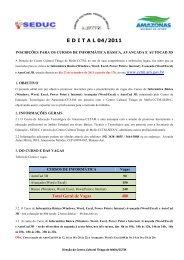 E D I T A L 04/2011 - Centro Cultural Thiago de Melo