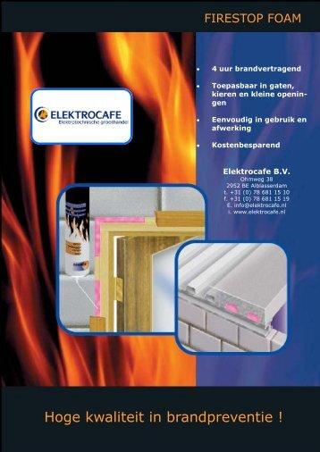 Hoge kwaliteit in brandpreventie ! - Elektrocafe