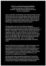Zürich und seine Handschuh Mode - Boehny.ch