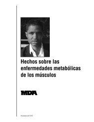 Hechos sobre las enfermedades metabolicas de los musculos