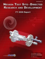 Nevada Test Site–Directed Research and Development FY 2009 ...