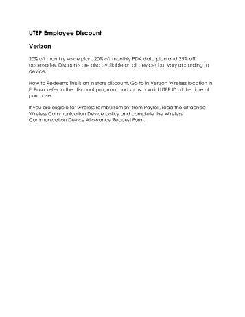 Verizon Discount Employee Renewal - Amerinet