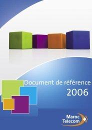 Maroc Telecom - Document de référence 2006