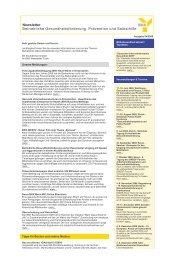 Newsletter Betriebliche Gesundheitsförderung, Prävention - Bkk-bv ...