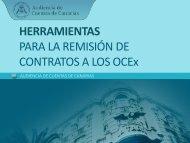 Herramientas para la remisión de contratos a los OCEX