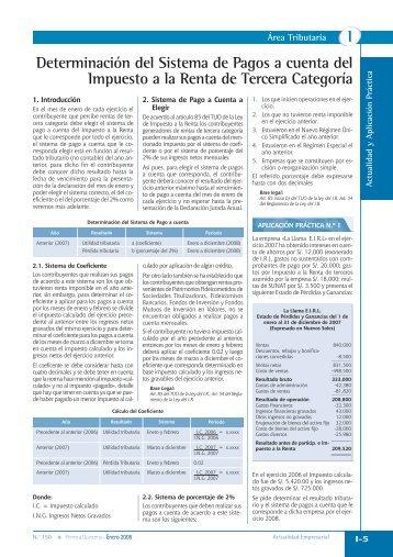 Determinación del Sistema de Pagos a cuenta del Impuesto a la ...