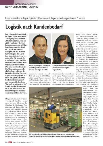 Logistik nach Kundenbedarf