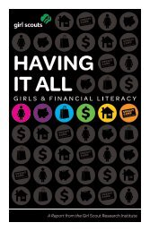 Having It All: Girls and Financial Literacy - Girl Scouts of the USA