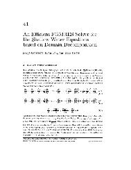41 An Efficient FGMRES Solver for the Shallow ater Equations ...
