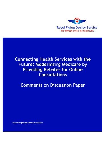 Royal Flying Doctor Service (RFDS) (PDF 426 KB) - MBS Online