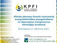 Klimata pārmaiņu finanšu instruments ēku renovācijai un ...