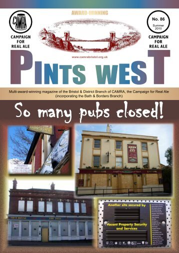 Pints West 86, Summer 2010 - Bristol & District CAMRA