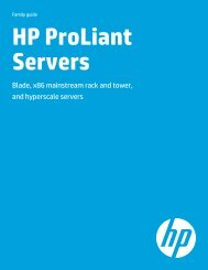 HP ProLiant Servers - Family guide