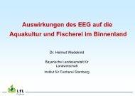 Auswirkungen des EEG auf die Aquakultur und Fischerei im ...