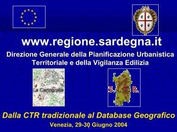 Dalla CTR tradizionale al database geografico - Sardegna Territorio