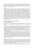 Abstracts - ALL - Associazione Laureati in Lingue - Università di Udine - Page 6
