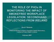 THE ROLE OF PHOs IN MONITORING THE IMPACT OF ...