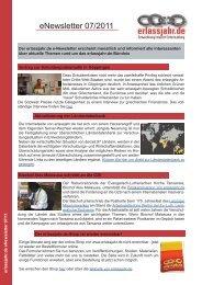 erlassjahr.de Newsletter 07/2011