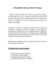 (Penicillin Allergy Skin Testing)