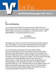Anleihebedingungen IHS Serie 7 - VR Bank Rhein-Neckar eG