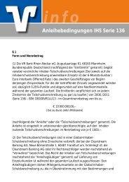 Anleihebedingungen IHS Serie 136 - VR Bank Rhein-Neckar eG